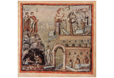 Masters of the Vergilius Vaticanus (The Aeneid of Virgil, Book I, Scene: construction of a city) Posters