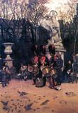 James Tissot The Return March in the Tuileries Art Print Poster Masterprint
