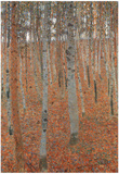 Gustav Klimt Forest of Beech Trees Art Print Poster Photo