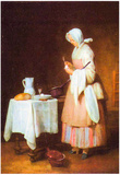 Jean Chardin The Caring Maid Art Print Poster Posters