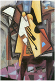 Juan Gris Guitar and Stool Cubism Art Print Poster Posters