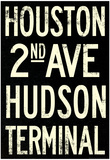 New York City Houston Hudson Vintage RetroMetro Subway Poster Photo