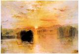Joseph Mallord Turner Lake Petworth Sunset Art Print Poster Posters