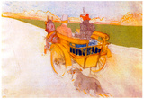 Henri de Toulouse-Lautrec Carriage with Dog Art Print Poster Poster