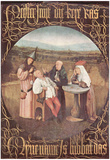 Hieronymus Bosch (The cure of madness (The Stone Operation)) Art Poster Print Prints
