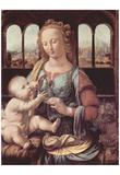 Leonardo Da Vinci (Virgin Mary and Child) Art Poster Print Poster