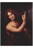Leonardo Da Vinci (St. John the Baptist) Art Poster Print Plakater