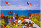 Claude Monet Garden at Sainte Adresse Art Print Poster Prints