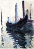 Claude Monet Gondolas in Venice Art Poster Print Prints