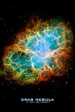 Crab Nebula Text Space Photo Art Poster Print Masterprint