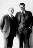 Jack Dempsey and Knute Rockne Archival Photo Sports Poster Print Poster