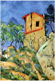 Paul Cezanne House with Walls Art Print Poster Posters
