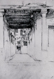James Whistler Venetian Court Art Print Poster Masterprint