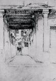 James Whistler Venetian Court Art Print Poster Masterprint