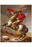 Jacques-Louis David (Napoleon exceed the great St. Bernard Pass) Art Poster Print Posters