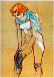 Henri de Toulouse-Lautrec Stockings Art Print Poster Posters