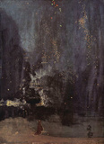 James Abbot McNeill Whistler (Notturno in Black and Gold, The falling rocket) Art Poster Print Masterprint