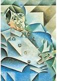 Juan Gris Homage to Pablo Picasso Cubism Art Print Poster Masterprint