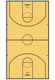 Basketball Court Layout Sports Poster Posters