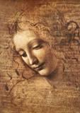 Leonardo Da Vinci (Female Head, La Scapigliata) Art Poster Print Art Poster Print Masterprint