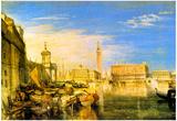 Joseph Mallord Turner Bridge of Sigh's Venice Art Print Poster Poster