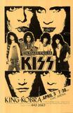 Kiss & King Kobra concert tour Music Poster Zdjęcie