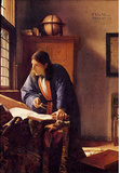 Johannes Vermeer The Geographer Art Print Poster Masterprint