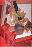 Juan Gris Flowers on the Table Cubism Art Print Poster Photo