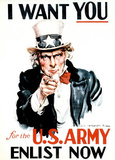 I Want You (Uncle Sam) Art Poster Print Masterprint