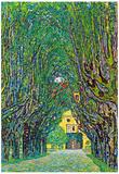 Gustav Klimt Way to the Park Art Print Poster Posters