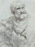 Leonardo da Vinci (Bust of St. Peter) Art Poster Print Masterprint
