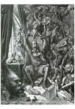 Gustave Dore (Don Quixote In His Library) Art Poster Print Prints