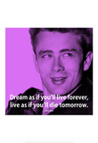 James Dean Dream iNspire 2 Quote Poster Masterprint