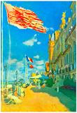 Claude Monet Hotel des Roches Noires in Trouville Art Print Poster Prints