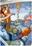 Michelangelo Bronze Snake Art Print Poster Prints