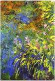 Claude Monet Iris at the Water-Lily Pond 2 Art Print Poster Posters