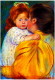 Mary Cassatt Maternal Kiss 1896 Art Print Poster Poster