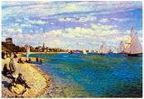 Claude Monet The Beach at Sainte Adresse Art Print Poster Print