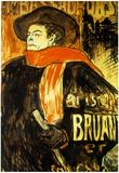 Henri de Toulouse-Lautrec Aristide Bruant Study Art Print Poster Poster
