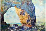 Claude Monet The Rocky Cliffs of Etretat La Porte Man Art Print Poster Prints