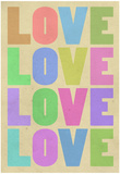 Love Pop-Art Pastel Art Print Poster Prints