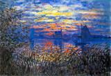 Claude Monet Sunset on the Seine Art Print Poster Masterprint