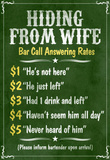 Hiding From Wife Bar Phone Fees Poster Masterprint