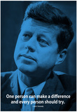 John F. Kennedy Make A Difference iNspire Quote Poster Posters
