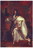 Hyacinthe Rigaud (Portrait of the French King Louis XIV) Art Poster Print Print