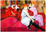 Henri de Toulouse-Lautrec Salon in the Rue de Moulins Art Print Poster Prints