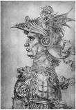 Leonardo da Vinci (Warriors in ancient armor, in Profile) Art Poster Print Prints