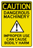 Caution Dangerous Machinery Advisory Work Place Sign Poster Print