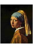Jan Vermeer van Delft (The girl with the pearl) Art Poster Print Posters