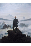 Caspar Friedrich Wanderer Above the Sea of Fog Art Print Poster Posters